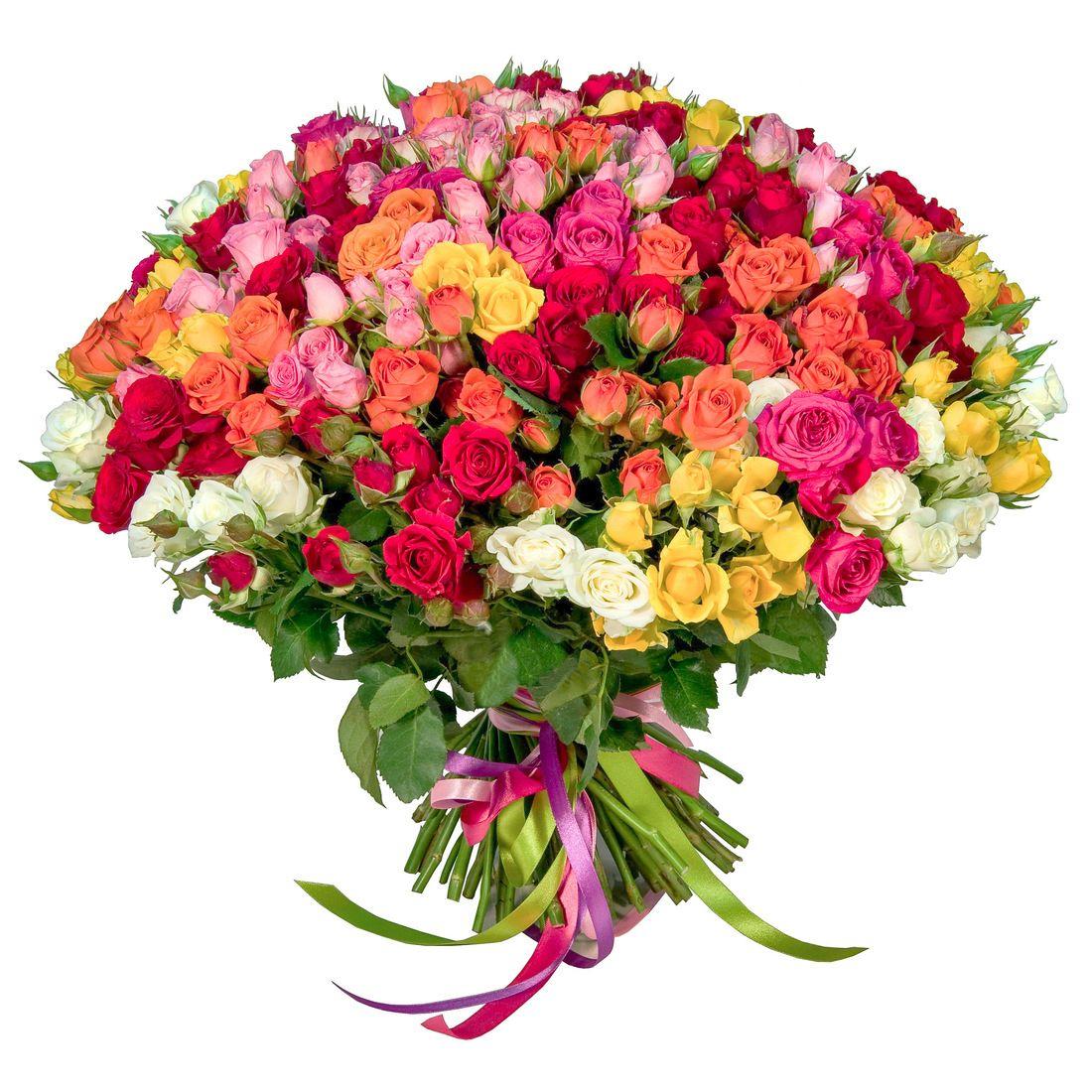 Букеты с кустовых роз, букет лютик купить киев